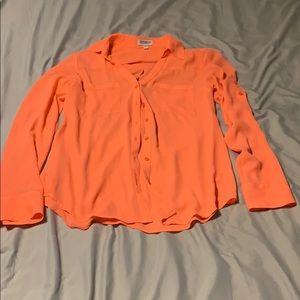 Orange Express blouse